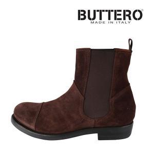 Buttero ブーツ メンズ 41/25.5cm ブラウン 茶 レザー B4424 ブッテロ 並行輸入品|utsubostock