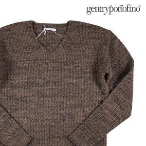 【48】 Gentry Portfino ジェントリーポルトフィーノ Vネックセーター メンズ 秋冬 ブラウン 茶 並行輸入品 ニット|utsubostock