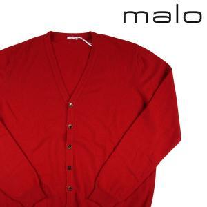 MALO カーディガン メンズ 秋冬 56/4XL レッド 赤 カシミヤ100% マーロ 大きいサイズ 並行輸入品|utsubostock