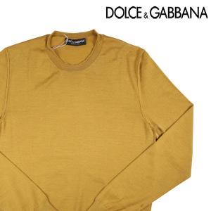 【48】 Dolce&Gabbana ドルチェ&ガッバーナ 丸首セーター メンズ 秋冬 カシミヤxシルク混 イエロー 黄 並行輸入品 ニット|utsubostock