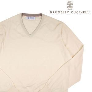 BRUNELLO CUCINELLI Vネックセーター メンズ 52/2XL オフホワイト 白  ブルネロクチネリ 大きいサイズ 並行輸入品|utsubostock