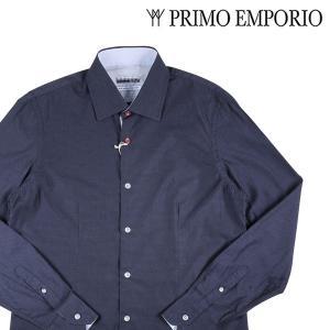 PRIMO EMPORIO 長袖シャツ メンズ L/48 ネイビー 紺 プリモエンポリオ 並行輸入品|utsubostock