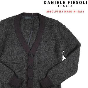 DANIELE FIESOLI カーディガン メンズ 秋冬 S/44 グレー 灰色 ダニエレフィエゾーリ 並行輸入品|utsubostock