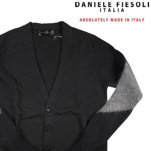DANIELE FIESOLI カーディガン メンズ 秋冬 S/44 ブラック 黒 ダニエレフィエゾーリ 並行輸入品|utsubostock