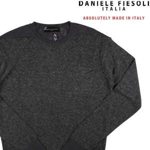DANIELE FIESOLI 丸首セーター メンズ 秋冬 S/44 グレー 灰色 ダニエレフィエゾーリ 並行輸入品|utsubostock