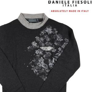 DANIELE FIESOLI ハイネックセーター メンズ 秋冬 S/44 ブラック 黒 ダニエレフィエゾーリ 並行輸入品 utsubostock