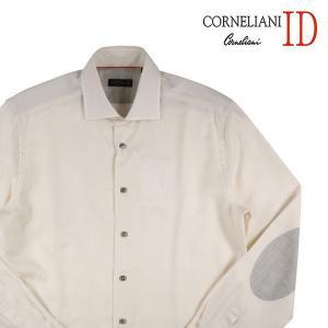 【40】 CORNELIANI ID コルネリアーニ アイディー 長袖シャツ メンズ ベージュ 並行輸入品 カジュアルシャツ|utsubostock
