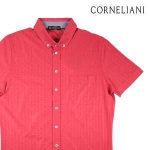 CORNELIANI 半袖シャツ メンズ 春夏 レッド 赤 コルネリアーニ 並行輸入品|utsubostock