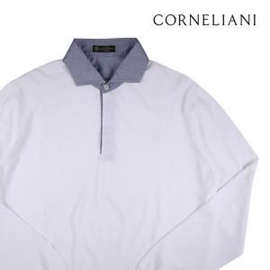 CORNELIANI 長袖ポロシャツ メンズ 50/XL ホワイト 白 コルネリアーニ 並行輸入品|utsubostock