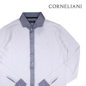 CORNELIANI 長袖シャツ メンズ ホワイト 白 コルネリアーニ 並行輸入品|utsubostock