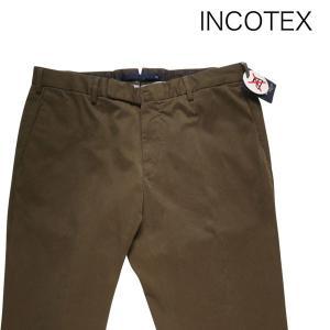 INCOTEX コットンパンツ 20853 khaki 50 7603【A7673】 インコテックス|utsubostock
