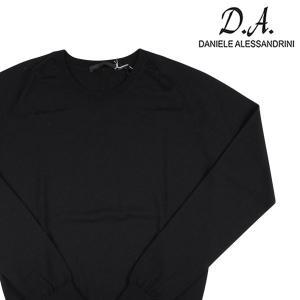 【48】 DANIELE ALESSANDRINI ダニエレアレッサンドリーニ 丸首セーター メンズ 秋冬 ブラック 黒 並行輸入品 ニット|utsubostock