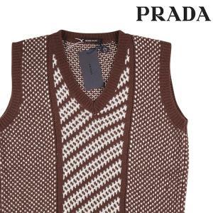 【48】 PRADA プラダ ベスト UMT259 メンズ 秋冬 カシミヤ100% ブラウン 茶 並行輸入品|utsubostock