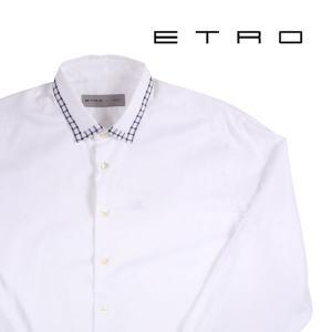 【41】 ETRO エトロ 長袖シャツ メンズ ホワイト 白 並行輸入品 カジュアルシャツ|utsubostock