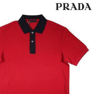 【M】 PRADA プラダ 半袖ポロシャツ SJJ888 メンズ 春夏 レッド 赤 並行輸入品 トップス|utsubostock