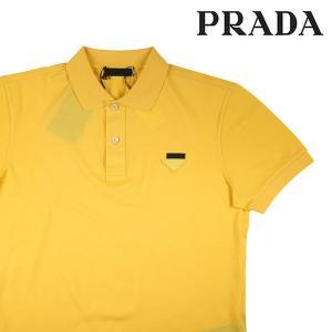 【M】 PRADA プラダ 半袖ポロシャツ UJM730 メンズ 春夏 イエロー 黄 並行輸入品 トップス|utsubostock