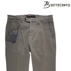 B SETTECENTO コットンパンツ メンズ 35/2XL カーキ ビーセッテチェント 大きいサイズ 並行輸入品|utsubostock