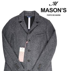 MASON'S コート メンズ 秋冬 52/2XL グレー 灰色 メイソンズ 大きいサイズ 並行輸入品|utsubostock