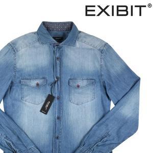 EXIBIT デニムシャツ メンズ ブルー 青 S/44 並行輸入品|utsubostock