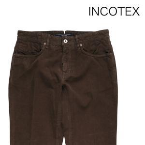 INCOTEX コットンパンツ 141ST0047199 brown 31【W8472】 インコテックス|utsubostock