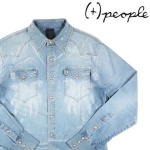 (+) PEOPLE デニムシャツ メンズ 50/XL ブルー 青 ピープル 並行輸入品 utsubostock