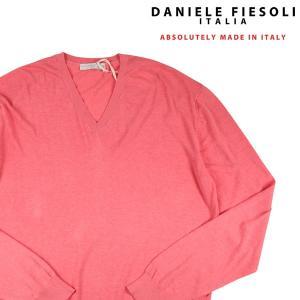 DANIELE FIESOLI Vネックセーター メンズ 春夏 XXL/52 ピンク ダニエレフィエゾーリ 大きいサイズ 並行輸入品|utsubostock