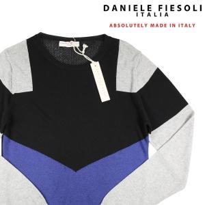 DANIELE FIESOLI 丸首セーター 20195 black M 8694bk【S8695】 ダニエレフィエゾーリ|utsubostock