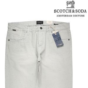 SCOTCH&SODA コットンパンツ メンズ 33/XL ホワイト 白 スコッチアンドソーダ 並行輸入品|utsubostock