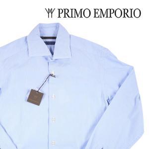 PRIMO EMPORIO 長袖シャツ メンズ 40/L ブルー 青 プリモエンポリオ 並行輸入品|utsubostock