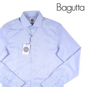 Bagutta 長袖シャツ メンズ 39/M ブルー 青 バグッタ 並行輸入品|utsubostock