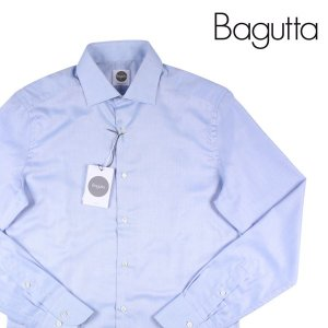 Bagutta 長袖シャツ メンズ 40/L ブルー 青 バグッタ 並行輸入品|utsubostock