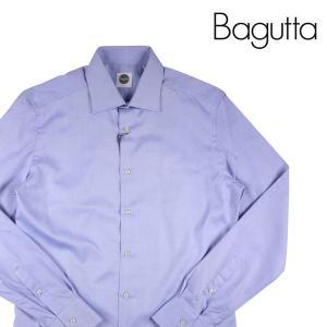 Bagutta 長袖シャツ メンズ 41/XL パープル 紫 バグッタ 並行輸入品|utsubostock