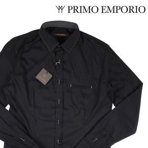PRIMO EMPORIO 長袖シャツ メンズ S/44 ブラック 黒 プリモエンポリオ 並行輸入品|utsubostock