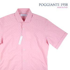 【38】 POGGIANTI 1958 ポジャンティ 1958 半袖シャツ メンズ 春夏 ピンク 並行輸入品 カジュアルシャツ|utsubostock