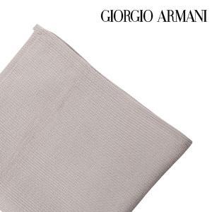 GIORGIO ARMANI ジョルジオアルマーニ ポケットチーフ メンズ シルク100% ベージュ 並行輸入品|utsubostock