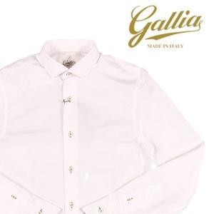 Gallia 長袖シャツ メンズ 38/S ホワイト 白 ガリア 並行輸入品|utsubostock