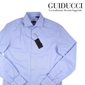 【40】 Guiducci グイドゥッチ 長袖シャツ メンズ ブルー 青 並行輸入品 ビジネスシャツ|utsubostock