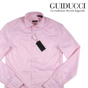 【40】 Guiducci グイドゥッチ 長袖シャツ メンズ ピンク 並行輸入品 ビジネスシャツ|utsubostock