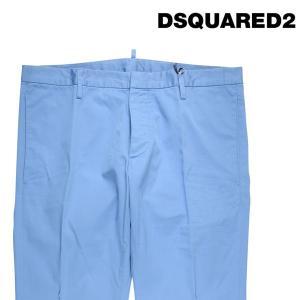 【48】 DSQUARED2 ディースクエアード カラーパンツ S74KA0749 メンズ ブルー 青 並行輸入品 ズボン|utsubostock