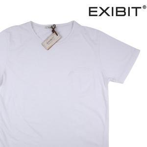 EXIBIT Uネック半袖Tシャツ メンズ S/44 ホワイト 白 エグジビット 並行輸入品|utsubostock