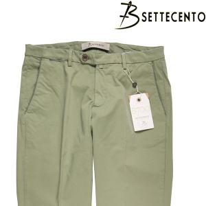 B SETTECENTO コットンパンツ メンズ 34/2XL グリーン 緑 ビーセッテチェント 大きいサイズ 並行輸入品|utsubostock