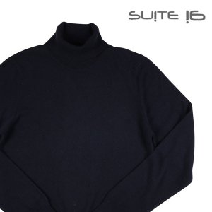 suite 16 タートルネックセーター メンズ 秋冬 46/M ネイビー 紺 カシミヤ混 スイート 並行輸入品|utsubostock
