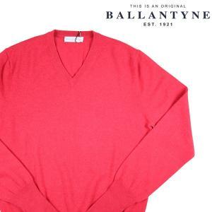 BALLANTYNE Vネックセーター メンズ 秋冬 52/2XL ピンク カシミヤ100% D2P00112K0012066 バランタイン 大きいサイズ 並行輸入品|utsubostock