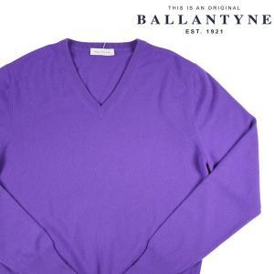 BALLANTYNE Vネックセーター メンズ 秋冬 50/XL パープル 紫 カシミヤ100% D2P001 バランタイン 並行輸入品|utsubostock