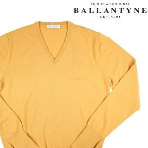 BALLANTYNE Vネックセーター メンズ 秋冬 50/XL イエロー 黄 カシミヤ100% D2P001 バランタイン 並行輸入品|utsubostock