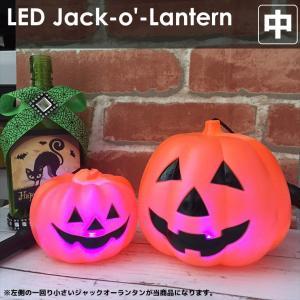 光るジャックオーランタン 中 12.0×9.0cm 持ち手付 使い捨てタイプ|utsunomiyahonpo