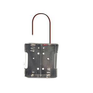 電池ボックス 3V出力 単1電池2本 (導線タイプ) 蓋なし utsunomiyahonpo