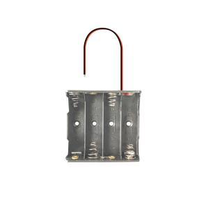 電池ボックス 単三電池 × 4本 6V(フタなし) utsunomiyahonpo