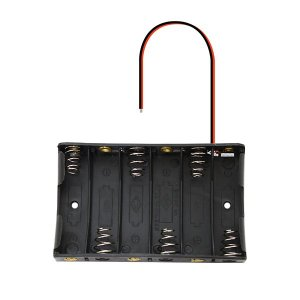 電池ボックス 単三電池 × 6本 9V (フタなし) utsunomiyahonpo
