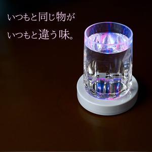 LED光るコースター 丸形 直径9.5cm×厚...の詳細画像1